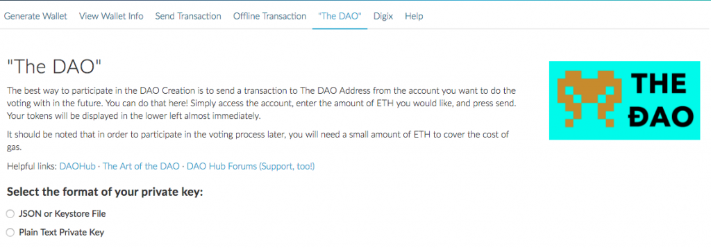 MyEtherWallet - The DAO