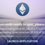 Ethereum Wallet - Sync