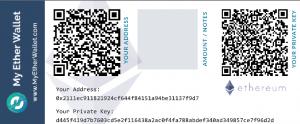 Un exemple de Paper Wallet (n'utilisez pas cette adresse !)