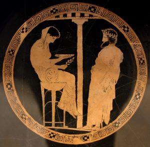 L'oracle de Delphes prédit l'avenir d'Oedipe