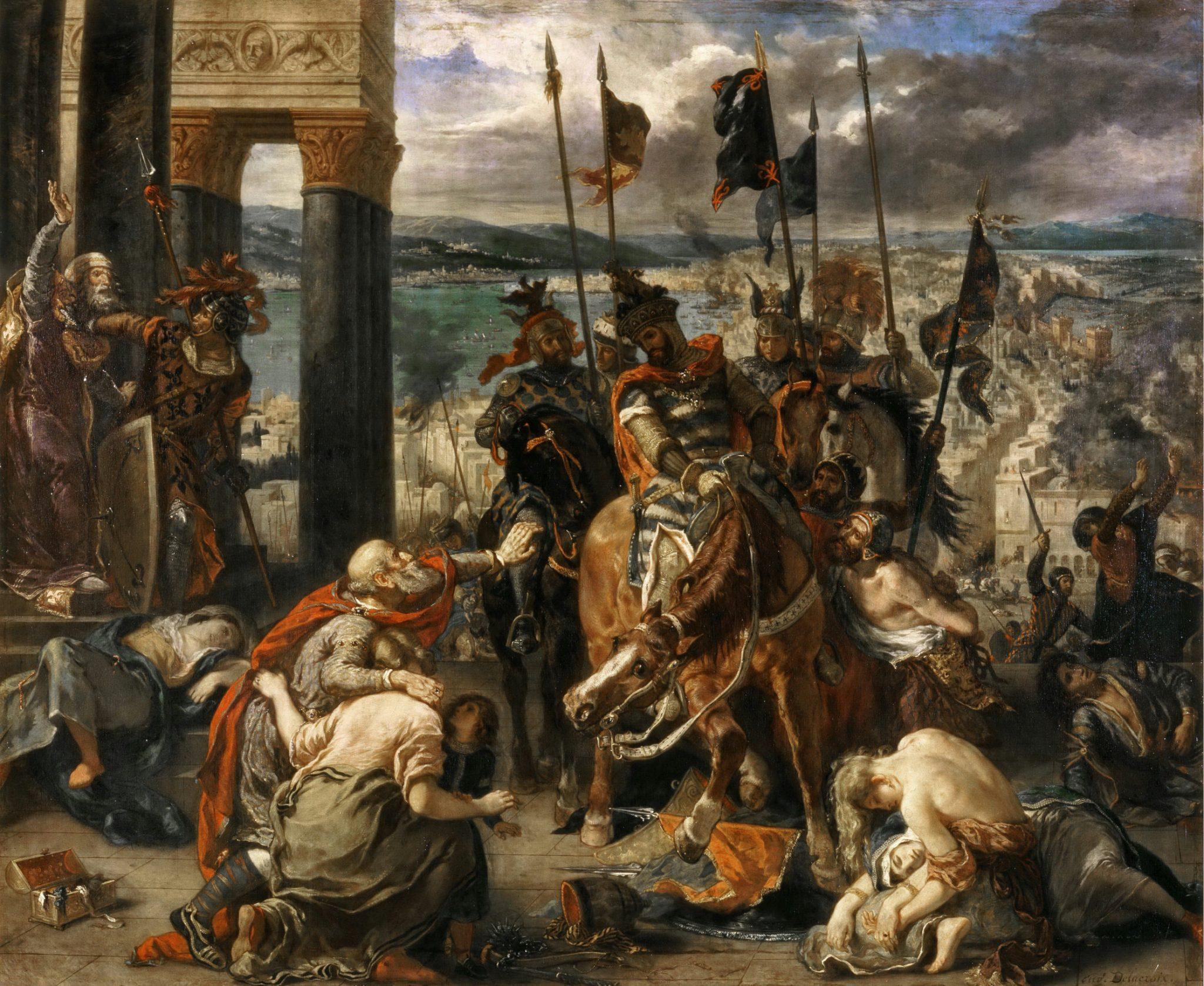 Eugène Delacroix L'Entrée des Croisés à Constantinople 1840